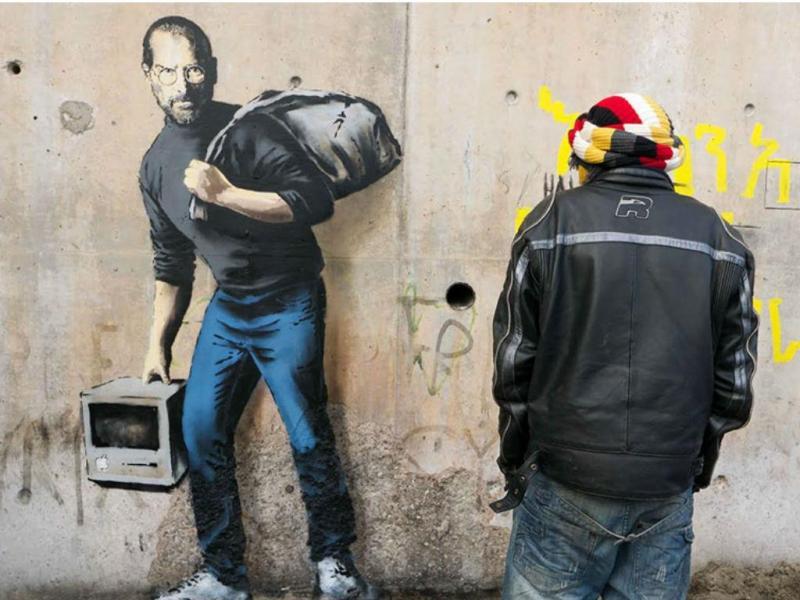 Banksy critica crise de refugiados em França