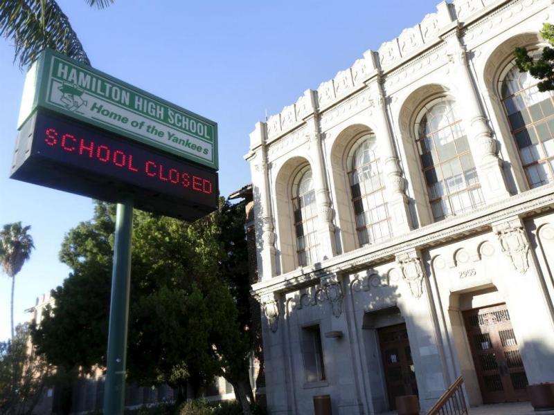 Escolas de Los Angeles encerradas