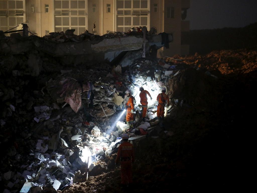 Deslizamento de terras na China