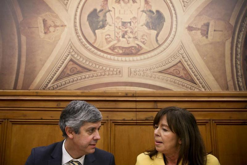 Mário Centeno e Teresa Leal Coelho