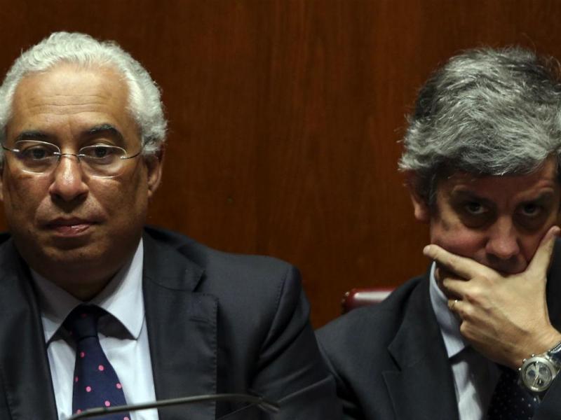 António Costa e Mário Centeno (Tiago Petinga/Lusa)