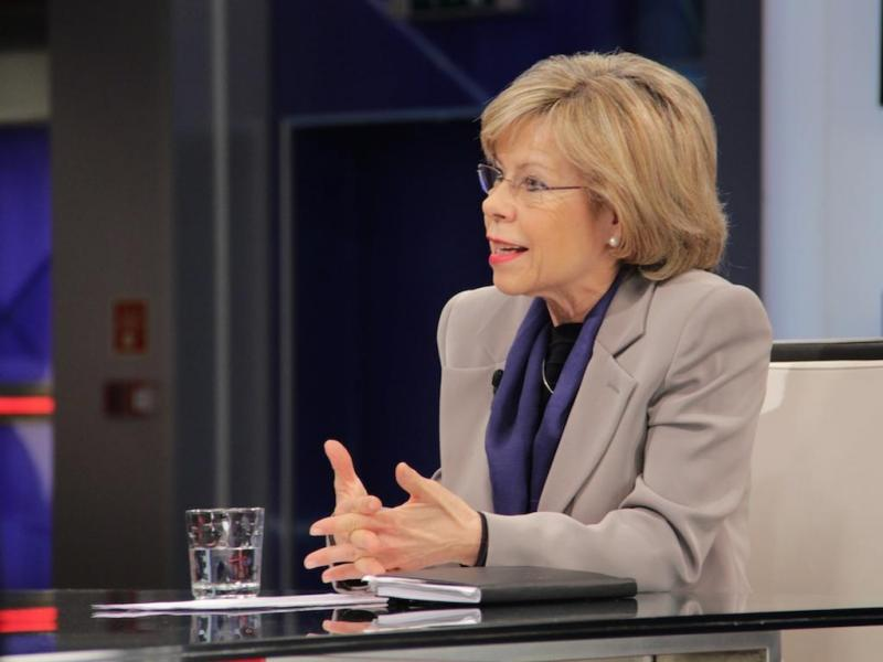 Entrevista a Maria de Belém no Jornal das 8 (foto: Paulo Sampaio)