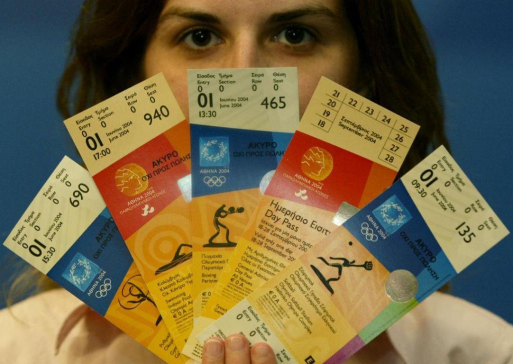 Bilhetes olímpicos 2004 (Reuters)