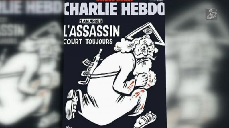 Deus assassino numa capa especial para o Charlie Hebdo