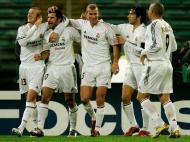 Real Madrid, dezembro de 2004: Beckham, Figo, Zidane, Raúl e Ronaldo