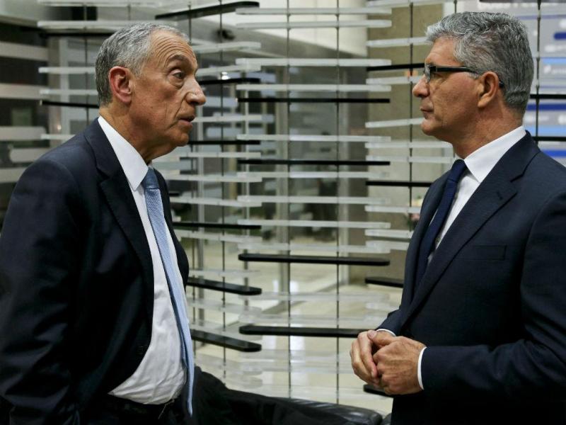 Marcelo Rebelo de Sousa e Edgar Silva (Foto: Lusa)