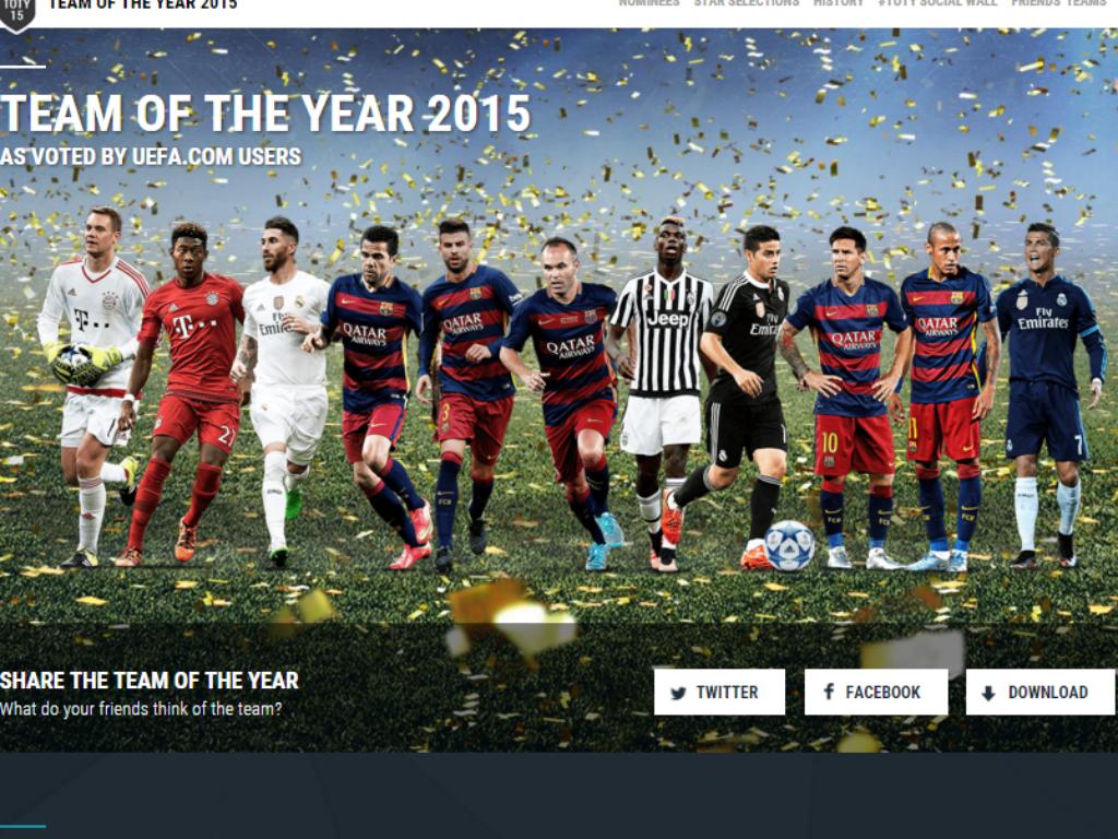 Onze ano UEFA