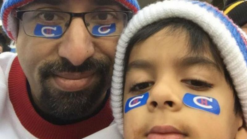 Syed Adam Ahmed com o pai