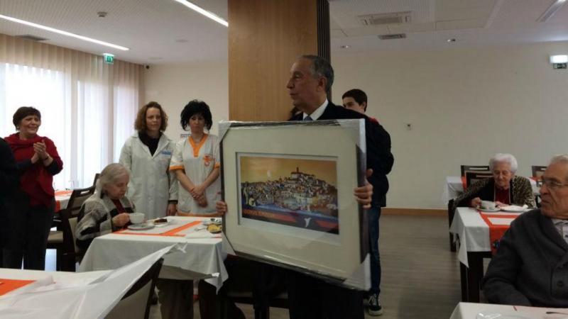 Marcelo Rebelo de Sousa na fundação Beatriz Santos