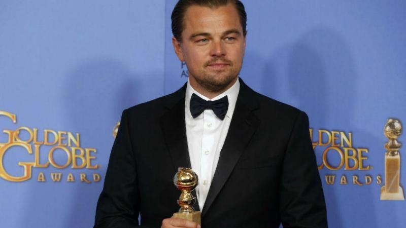 """Leonardo DiCaprio venceu o Globo de Ouro de melhor ator pelo seu papel no filme """"O Renascido"""