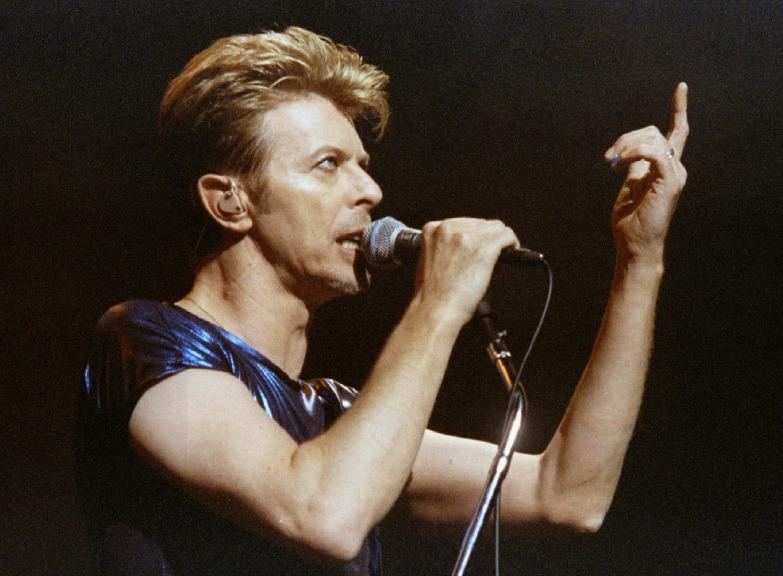 David Bowie em digressão pela América do Norte. 14 de setembro de 1995.