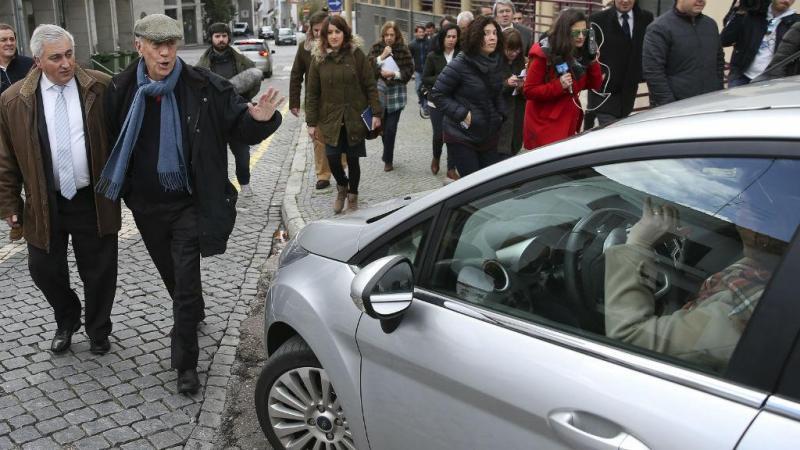 Marcelo Rebelo de Sousa pelas ruas de Portalegre