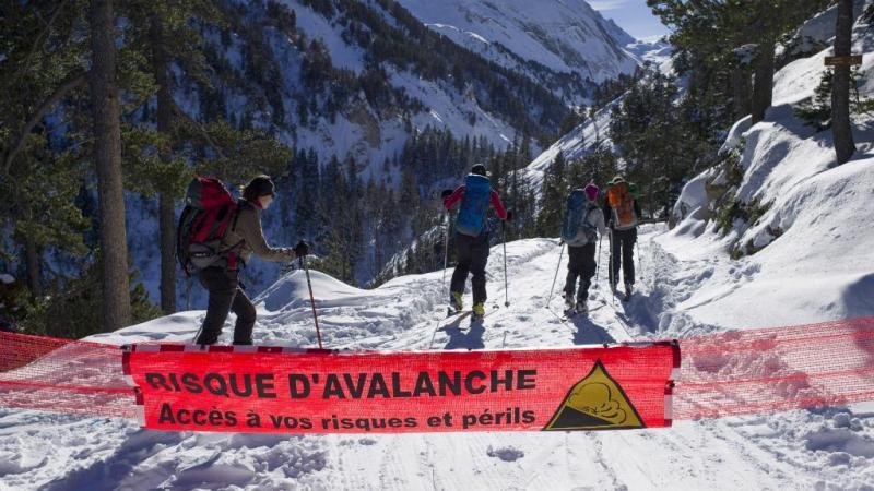 Risco de Avalanche - fotografia tirada a 12 de dezembro de 2012