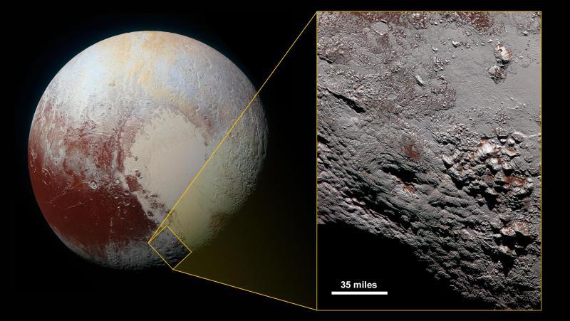 Vulcão de gelo encontrado em Plutão