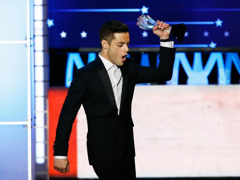 Rami Malek na cerimónia dos Critics' Choice Awards