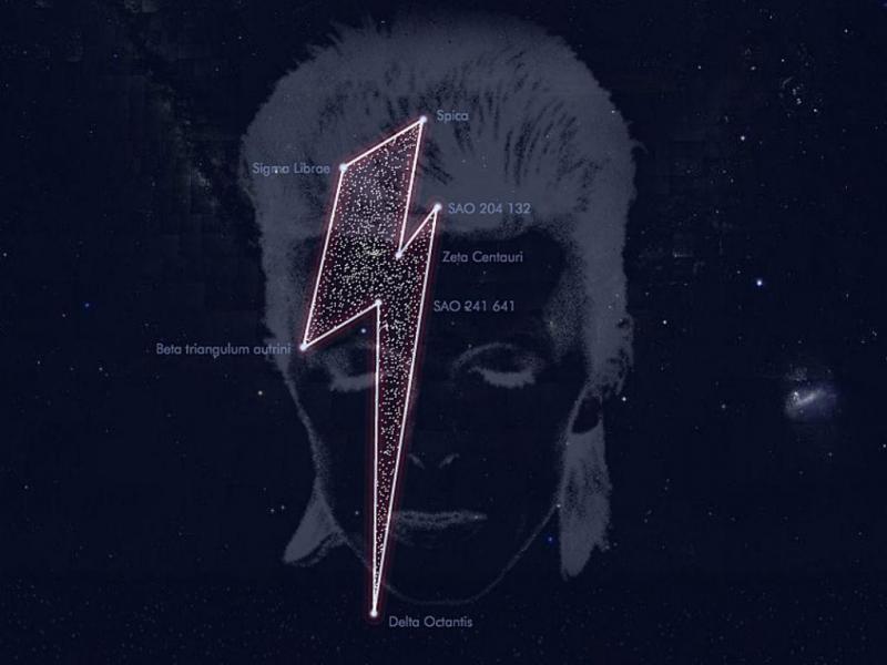 Constelação registada com nome de David Bowie