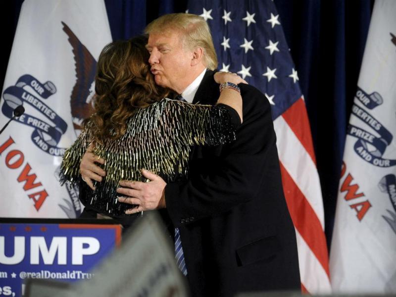 Donald Trump com Sarah Pallin