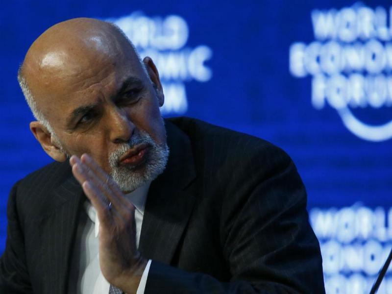 Presidente afegão, Ashraf Ghani, em Davos