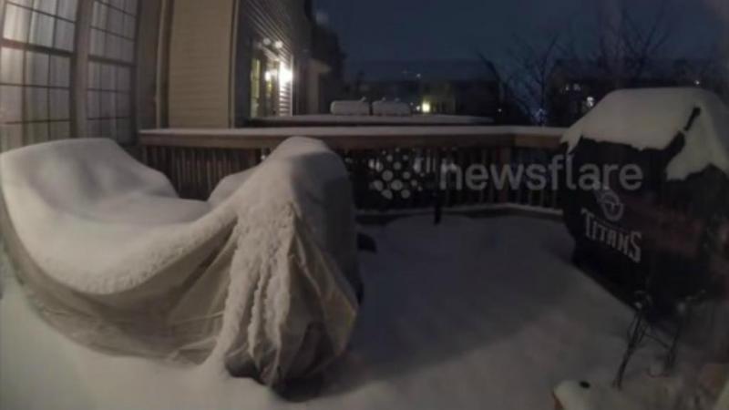 Nevão nos Estados Unidos (reprodução Youtube)