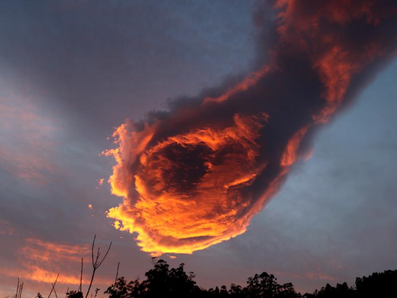 Nuvem invulgar nos céus da Madeira