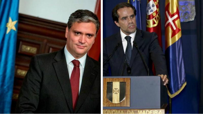 Vasco Cordeiro (e) Miguel Albuquerque (d)