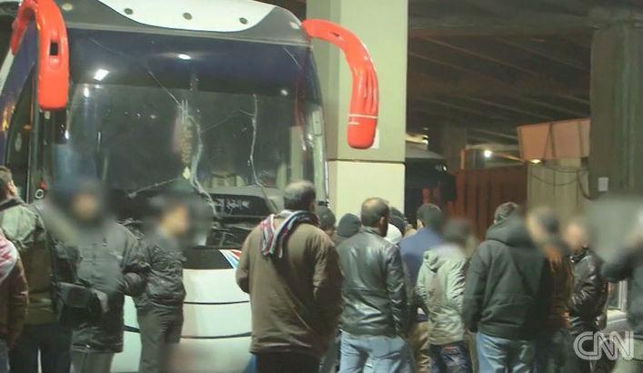 Autocarro entre Beirute e Raqqa (Reprodução CNN)