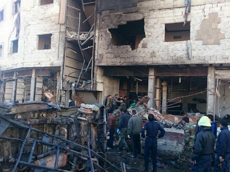 As imagens do ataque do Estado Islâmico em Damasco