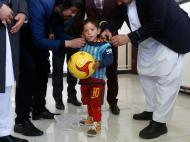 Murtaza Ahmadi, fã de Messi (REUTERS)