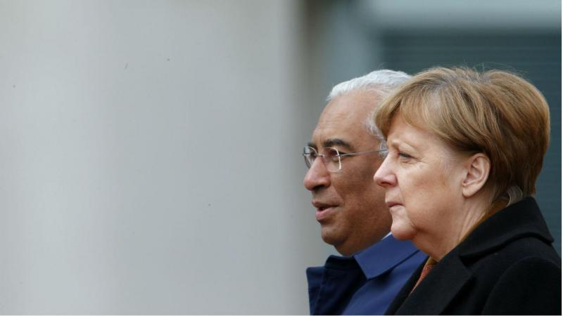 António Costa e Angela Merkel