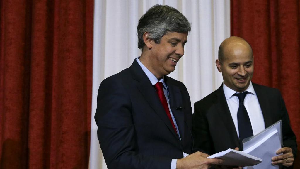 Ministro das Finanças, Mário Centeno, e o secretário de Estado do Orçamento, João Leão