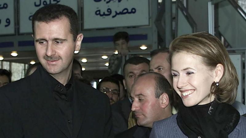 Bashar al Assad com a mulher