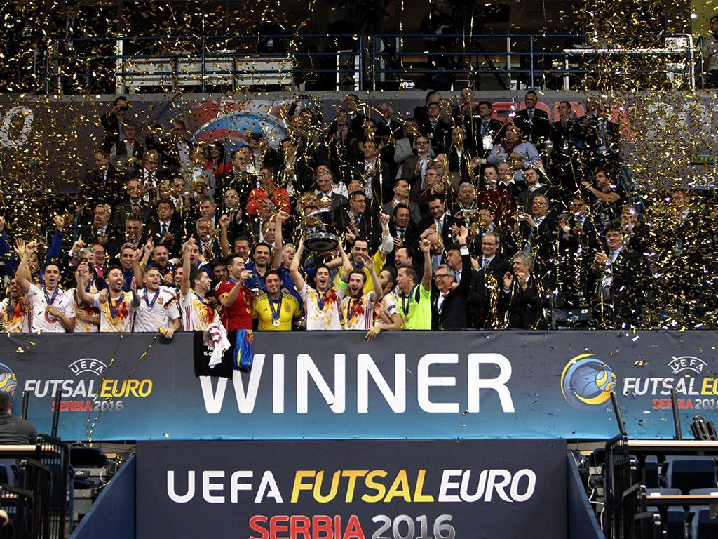 Espanha vence Europeu de Futsal