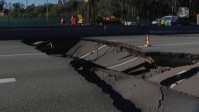 Aluimento na A41 em Valongo ainda sem data para reparação