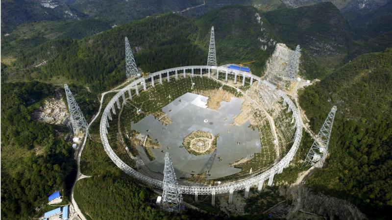 O maior radiotelescópio do mundo, na China