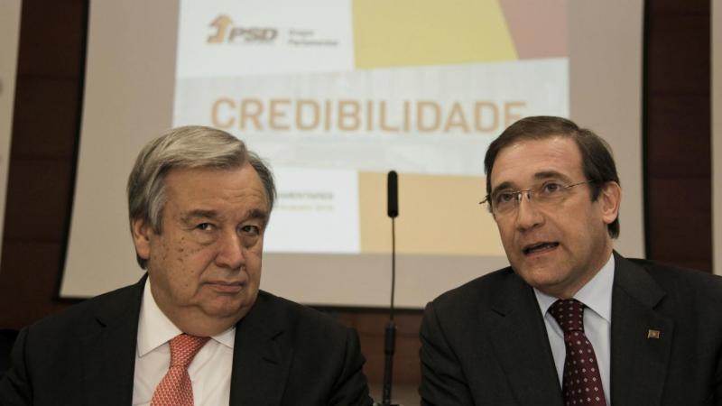 António Guterres e Passos Coelho