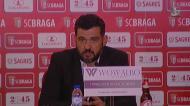 «Para quem vinha defrontar o grande Braga estou muito satisfeito»