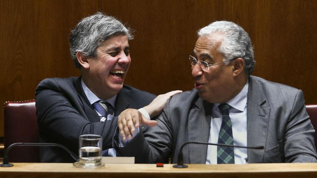 Mário Centeno e António Costa