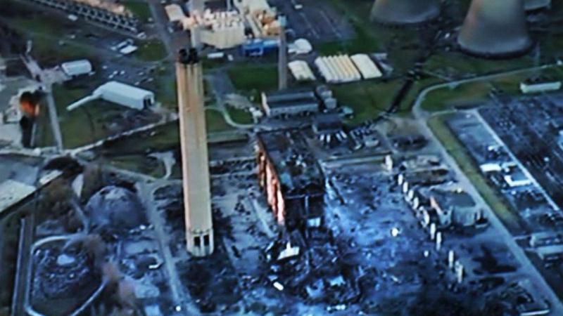 Explosão em central de energia no Reino Unido