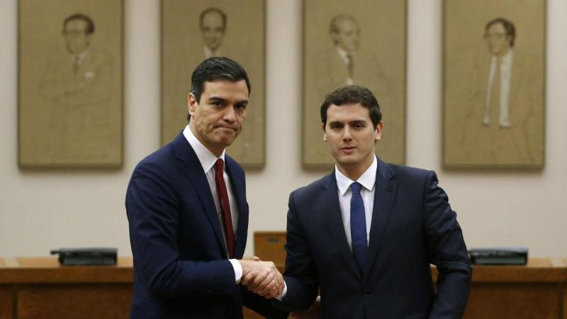 Pedro Sánchez e Albert Rivera (Foto: Juan Medina/Reuters)
