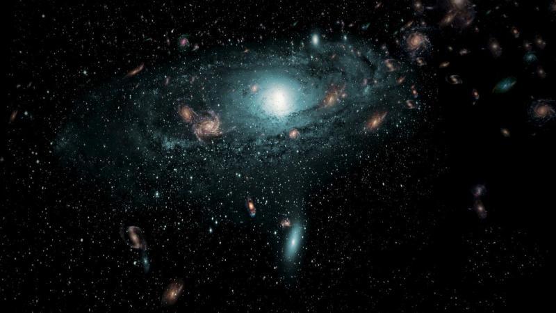 Galáxias escondidas atrás da Via Láctea