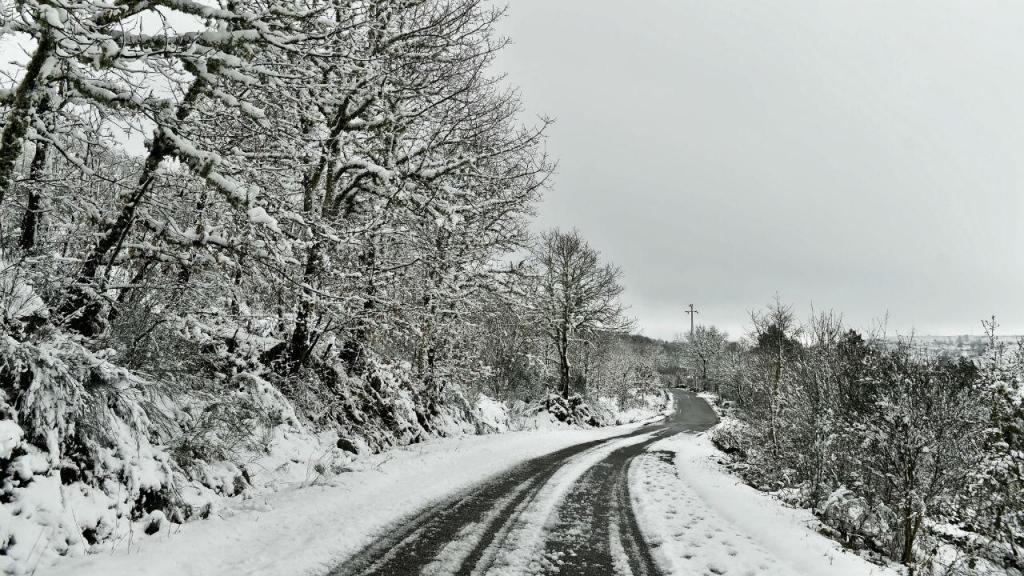 Neve na Serra de Montemuro, Castro Daire (Nuno André Ferreira/Lusa)