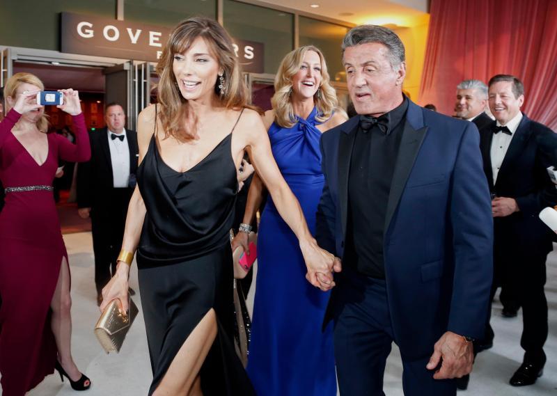 Sylvester Stallone e a mulher Jennifer Flavin