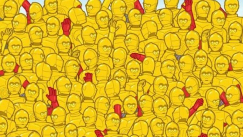 Consegue encontrar a estatueta dos Óscares?