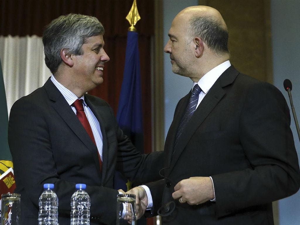 Mário Centeno e Pierre Moscovici