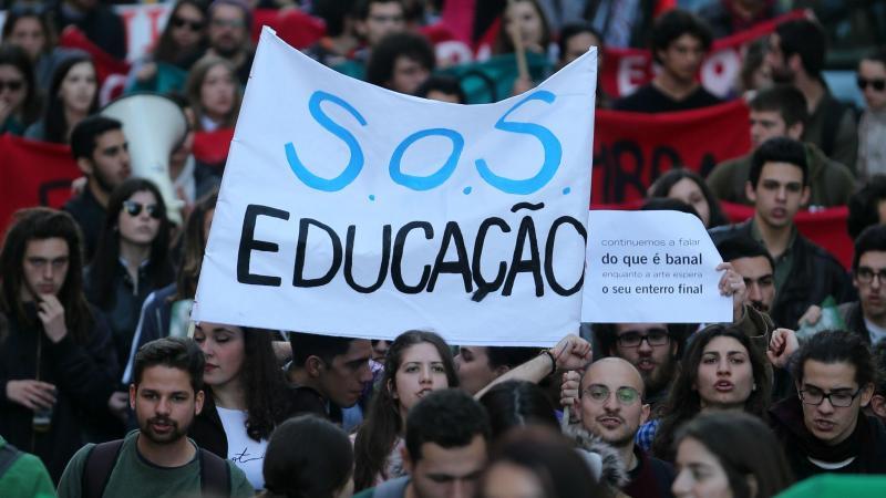 Manifestação de estudantes do ensino superior