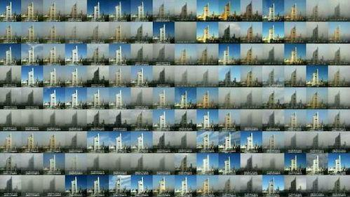 Mosaico mostra 365 dias de poluição em Pequim