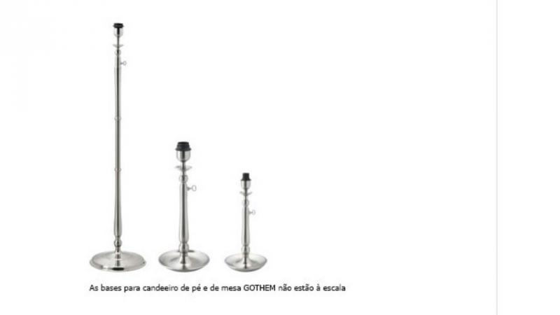 Bases de candeeiro Gothem (foto IKEA)