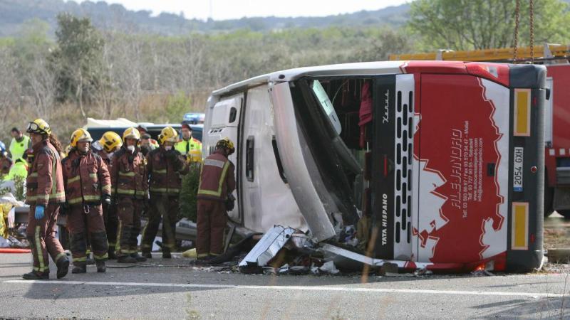 Espanha: pelo menos 14 mortos em acidente de autocarro