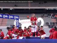 Embaraço na festa do Standard Liège