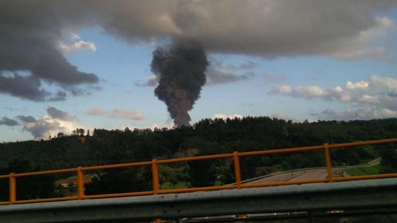 Incêndio destrói antiga fábrica de azeite em Abrantes